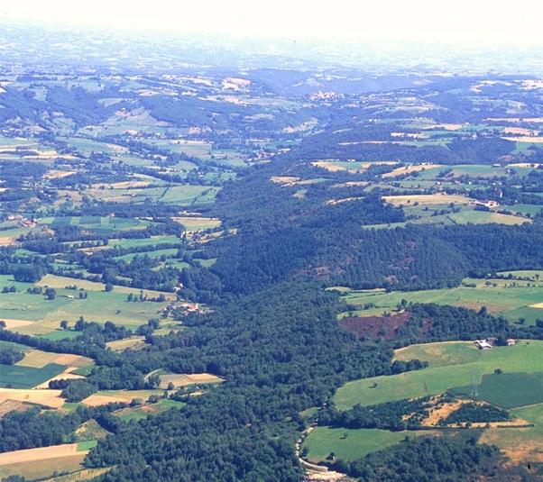 Faille géologique de Villefranche de Rouergue